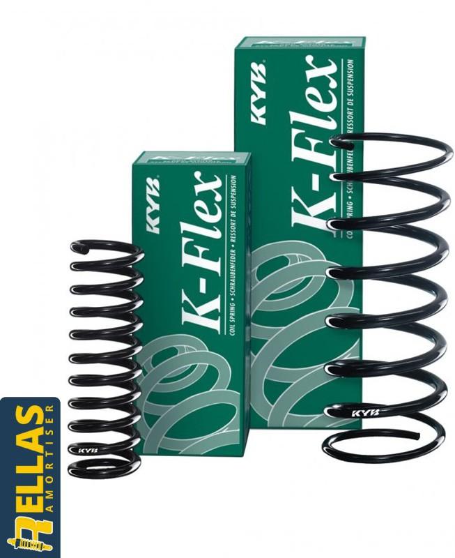 Ελατήρια αντικατάστασης (εργοστασιακού ύψους) για Ford Fiesta V (JH/JD) (1.25/1.3/1.4/1.6) Kayaba (2001-2008)